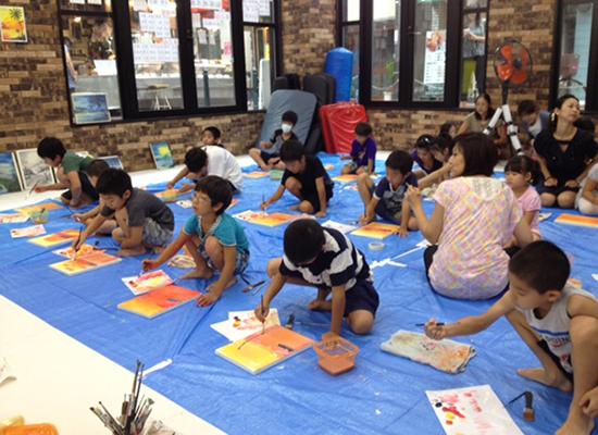 油絵教室風景